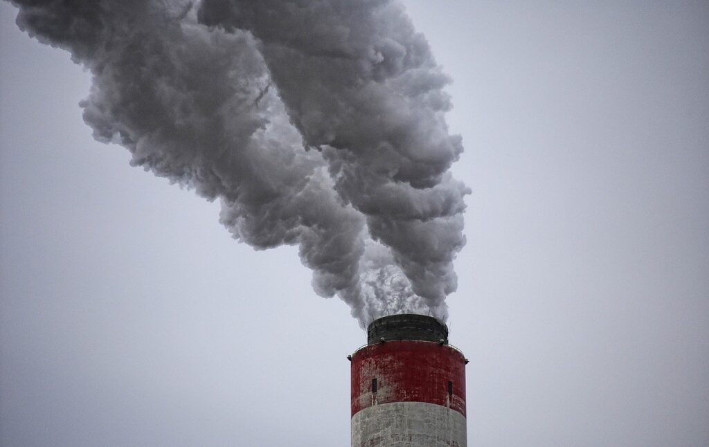 chimney, smoke, the industry